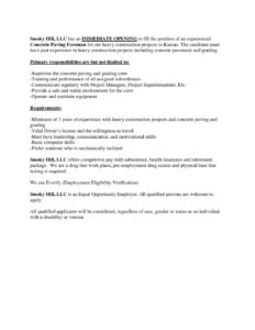 Paving Foreman Job Description on job cv, job description, job vacancies, job people, job recommendation form, job experience, job career opportunities, job position template, job porfolio, job portfolio, job design, job training, job network, job offer letter, job works, job review, job duties, job career objective, job employment, job responsibilities template,